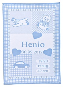 """My Blanket, with a """"car and an aeroplane."""""""