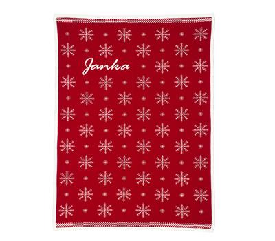 "Baby Blankets.""snowflake"" red"